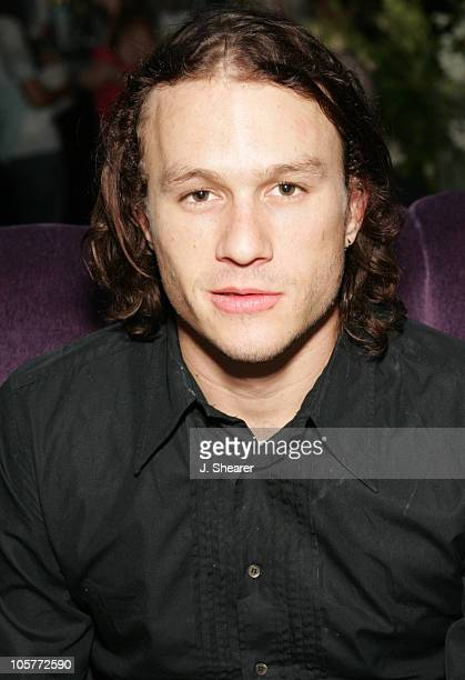 Heath Ledger during 'Lords of Dogtown' Los Angeles Premiere After Party at Avalon in Hollywood California United States
