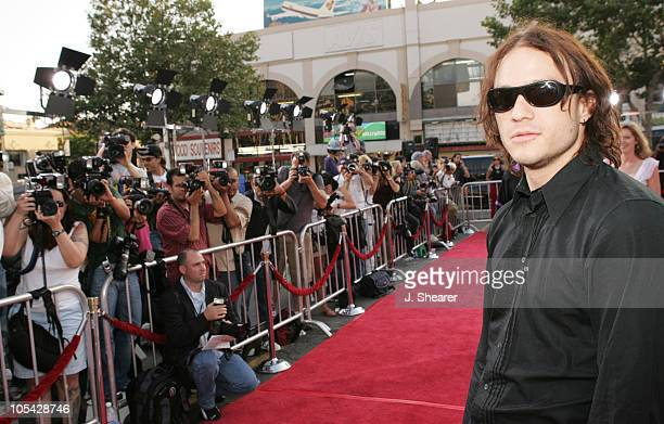 Heath Ledger during 'Lords of Dogtown' Los Angeles Premiere Red Carpet at Mann's Chinese Theater in Hollywood California United States