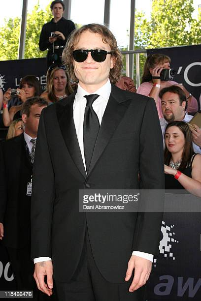 Heath Ledger during L'Oreal Paris 2006 AFI Awards Arrivals at Melbourne Exhibition Centre in Melbourne VIC Australia