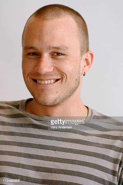 Heath Ledger during 'The Brothers Grimm' Press Conference with Matt Damon Terry Gilliam Monica Bellucci and Heath Ledger at Four Seasons Hotel in...