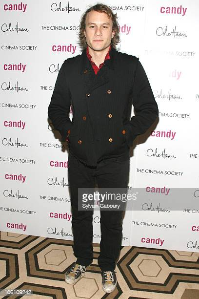 Heath Ledger during The Cinema Society and Cole Haan Host a Screening of 'Candy' Inside Arrivals at Tribeca Grand Hotel Grand Screening Room at 2...