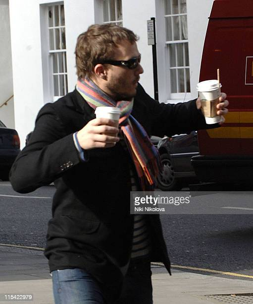 Heath Ledger *Exclusive Coverage* during Heath Ledger and Michelle Williams Sighting in Central London February 18 2006 at Central London in London...