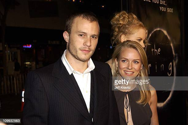 Heath Ledger Naomi Watts and Nicole Kidman during The Ring Premiere Arrivals at Mann Bruin Theatre in Los Angeles