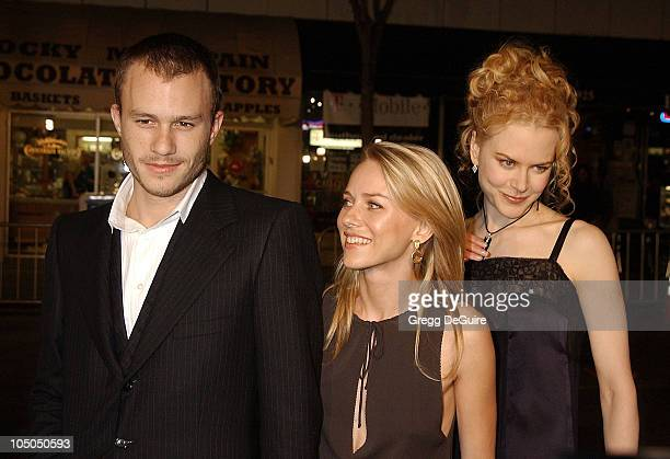 Heath Ledger Naomi Watts Nicole Kidman during 'The Ring' Premiere at Mann Bruin Theatre in Westwood California United States