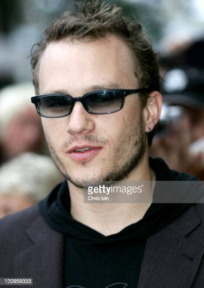 Heath Ledger shortly before being squirted by photographers with water pistols during the red carpet walk at the Sydney premiere of Brokeback...