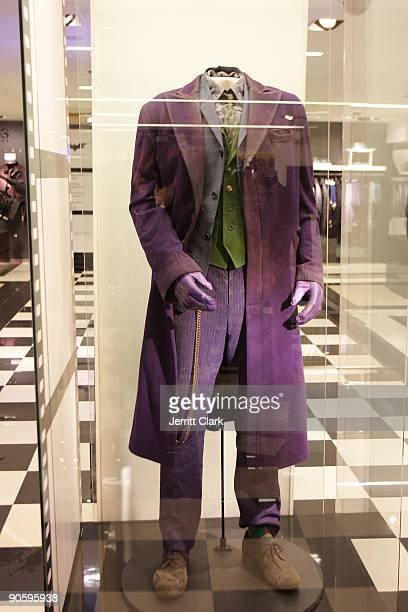 Heath Ledger's Joker costume as seen at the celebration of Fashion's Night Out at Bloomingdale's 59th Street Store on September 10 2009 in New York...