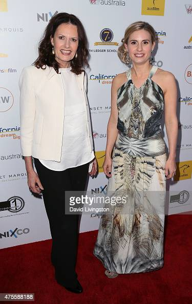Heath Ledger's mother Sally Bell and sister Kate Ledger attend Australians In Film Heath Ledger Scholarship Announcement Dinner at Sunset Marquis...