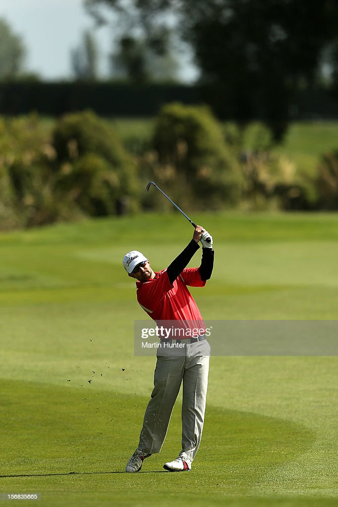 Heath Reed of Australia plays a shot during day two of the New Zealand Open Championship at Clearwater Golf Course on November 23, 2012 in Christchurch, New Zealand.