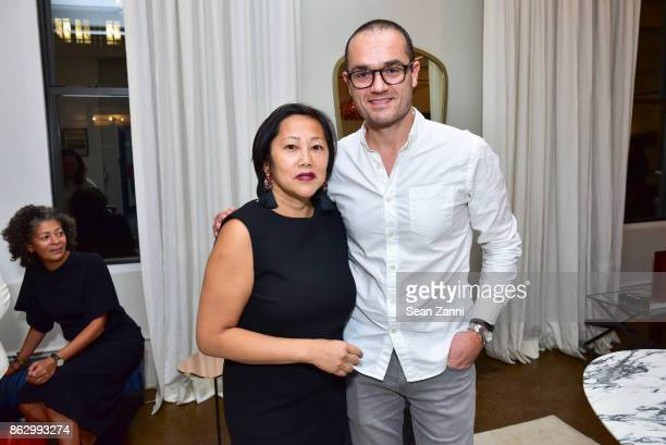Heather Ba and Pierre Josselin attend Tom Faulkner at Angela Brown Ltd on October 18 2017 in New York City