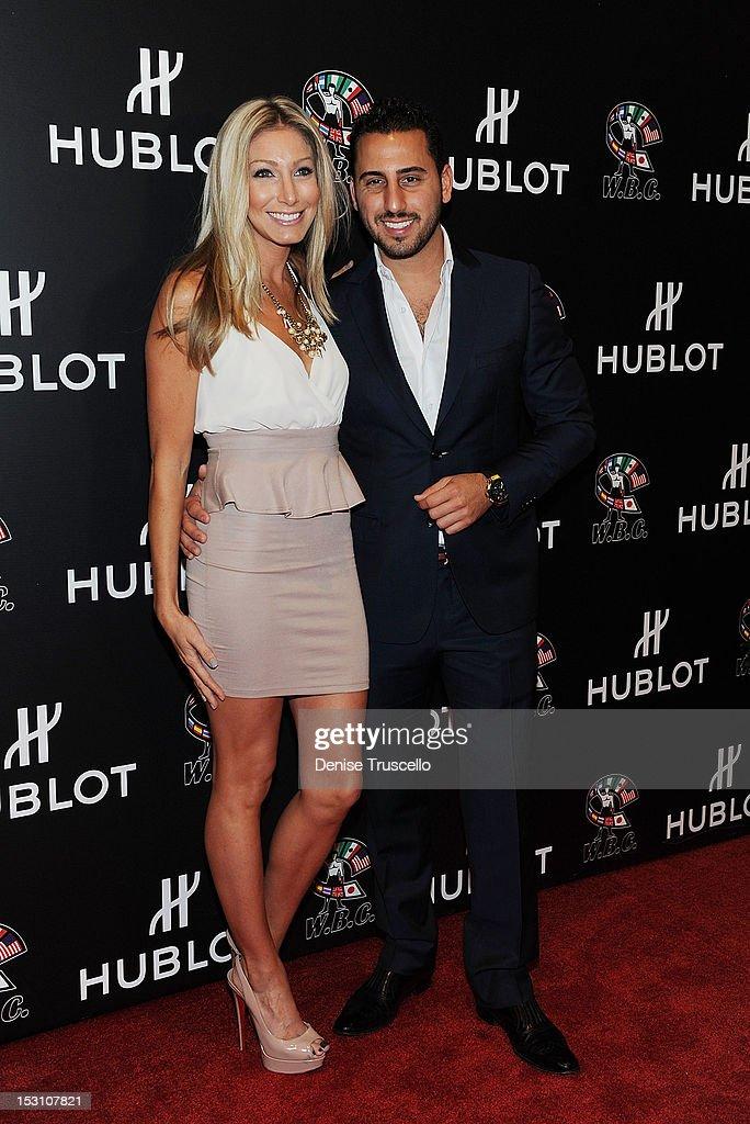 Heather Bilyeu and Josh Altman arrive at 'A Legendary Evening With Hublot And WBC' at Bellagio Las Vegas on September 29, 2012 in Las Vegas, Nevada.