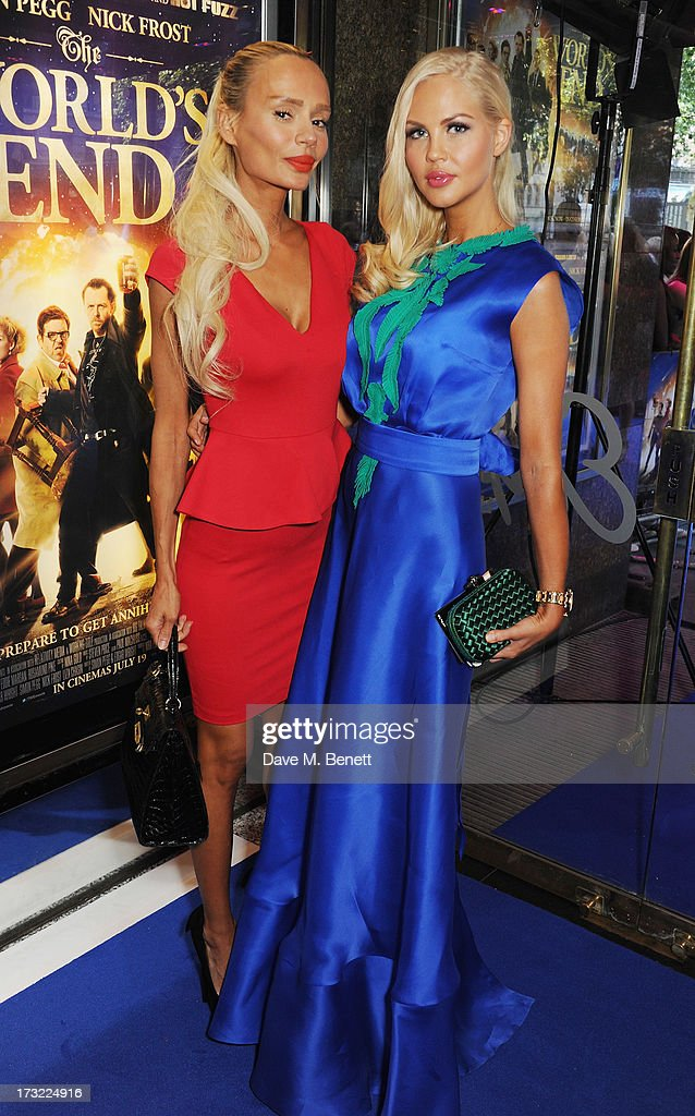 Heather Bird (L) and guest attend the World Premiere of 'The World's End' at Empire Leicester Square on July 10, 2013 in London, England.