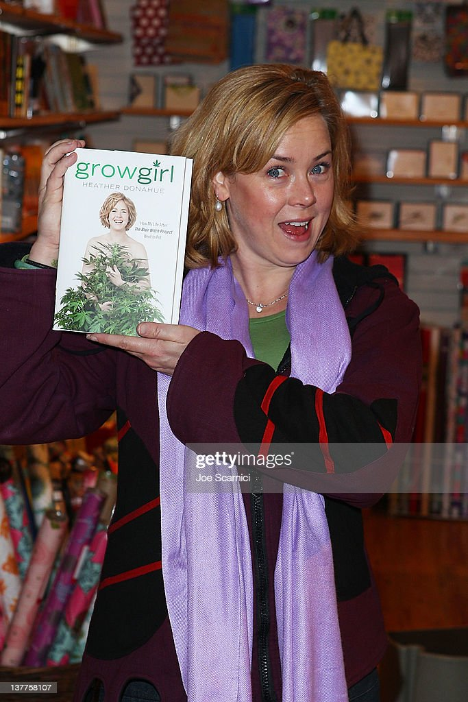 Heather Donahue signs copies of 'GROWGIRL How My Life After The Blair Witch Project Went To Pot' at Dolly's Bookstore on January 25 2012 in Park City...