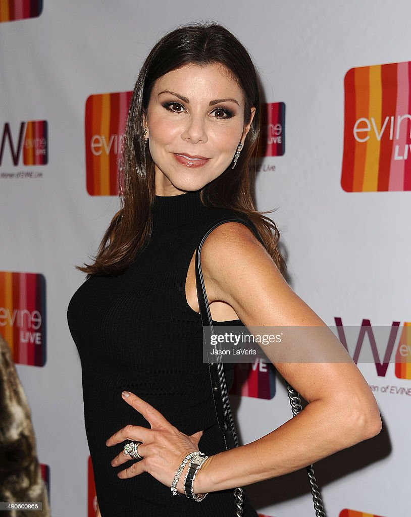 Heather Dubrow attends the EVINE Live celebration at Villa Blanca on September 29, 2015 in Beverly Hills, California.