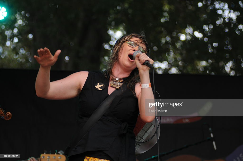 Heather Frahn performs on stage at Womadelaide 2013 at Botanic Park on March 9, 2013 in Adelaide, Australia.