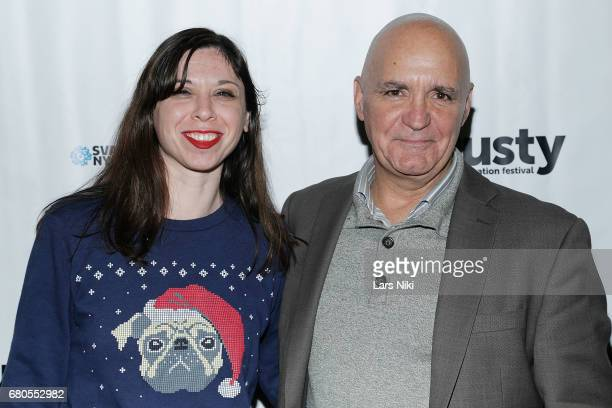 Heather Freudenthal and Sal Petrosino attend the 28th Dusty Film Animation Festival at SVA Theater on May 8 2017 in New York City