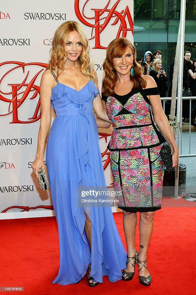 Heather Graham and designer Nicole Miller attends the 2012 CFDA Fashion Awards at Alice Tully Hall on June 4, 2012 in New York City.