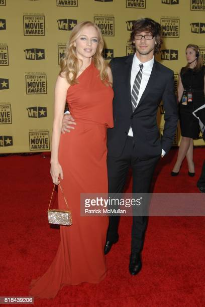 Heather Graham and Yaniv Raz attend 2010 Critics Choice Awards at The Palladium on January 15 2010 in Hollywood California