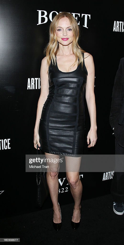 <a gi-track='captionPersonalityLinkClicked' href=/galleries/search?phrase=Heather+Graham+-+Actress&family=editorial&specificpeople=204520 ng-click='$event.stopPropagation()'>Heather Graham</a> arrives at the 6th Annual Hollywood Domino Pre-Oscar Gala & Tournament held at Sunset Tower on February 21, 2013 in West Hollywood, California.
