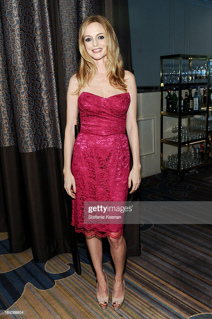 <a gi-track='captionPersonalityLinkClicked' href=/galleries/search?phrase=Heather+Graham&family=editorial&specificpeople=204520 ng-click='$event.stopPropagation()'>Heather Graham</a> attends An Evening Benefiting The L.A. Gay & Lesbian Center Honoring Amy Pascal and Ralph Rucci on March 21, 2013 in Beverly Hills, California.