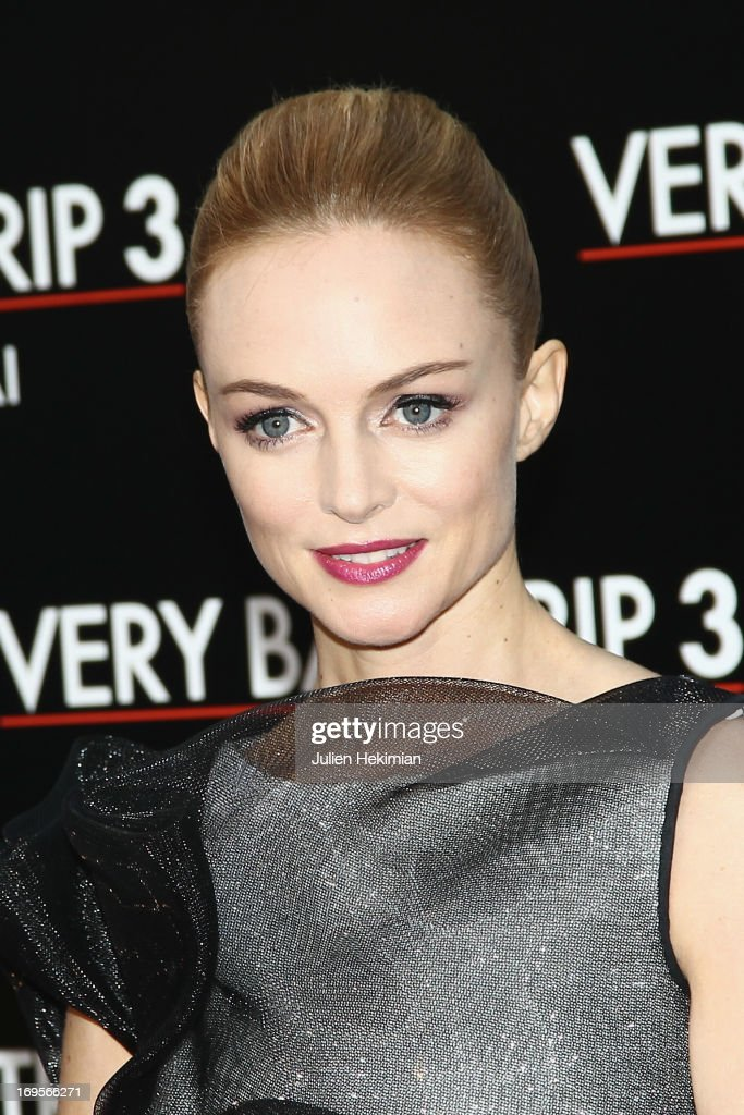 Heather Graham attends 'Hangover - Very Bad Trip III' ('The Hangover Part III') Paris premiere at Cinema UGC Normandie on May 27, 2013 in Paris, France.