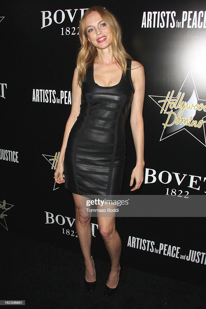 Heather Graham attends the 6th annual Hollywood Domino Gala & Tournament held at teh Sunset Tower on February 21, 2013 in West Hollywood, California.