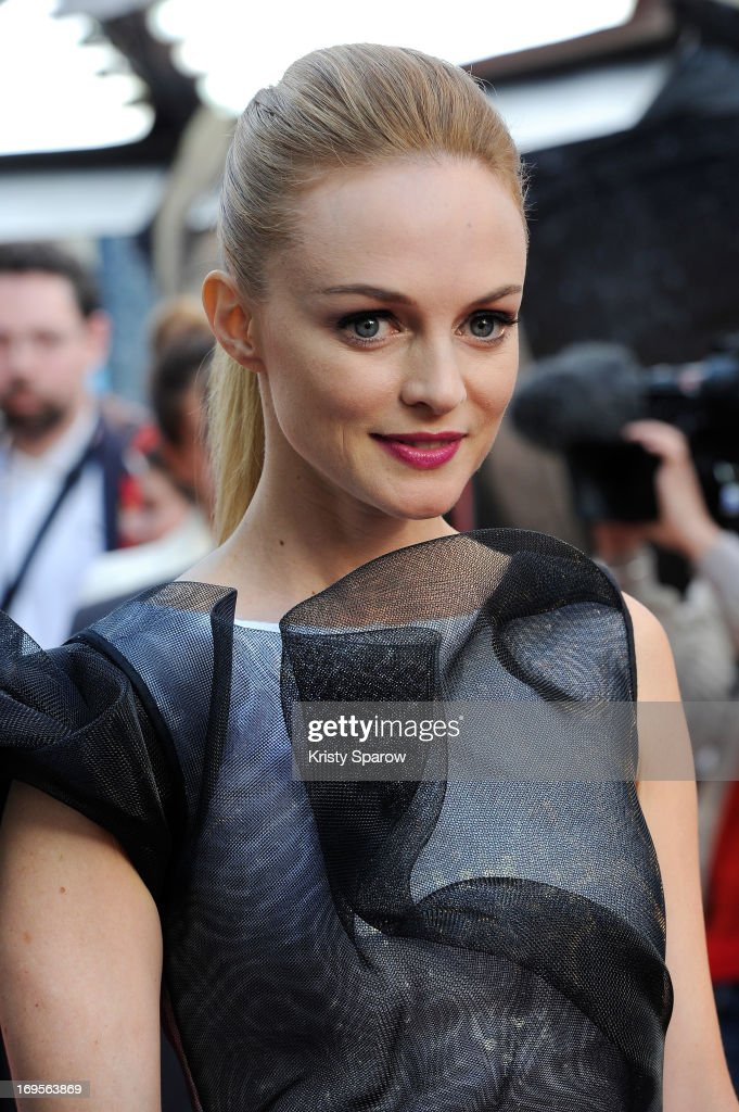 Heather Graham attends the 'Hangover - Very Bad Trip III' ('The Hangover Part III') Paris premiere at Cinema UGC Normandie on May 27, 2013 in Paris, France.