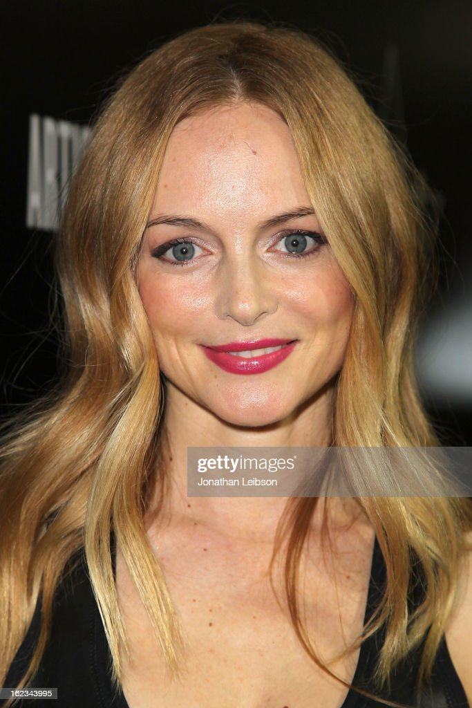 Heather Graham attends the Hollywood Domino And Bovet 1822 Gala Benefiting Artists For Peace And Justice at Sunset Tower on February 21, 2013 in West Hollywood, California.