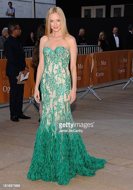 Heather Graham attends the Metropolitan Opera Season Opening Production Of 'Eugene Onegin' at The Metropolitan Opera House on September 23 2013 in...