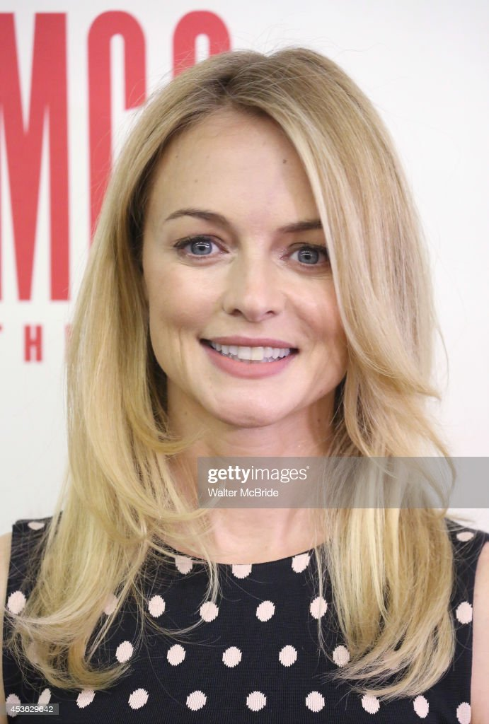 <a gi-track='captionPersonalityLinkClicked' href=/galleries/search?phrase=Heather+Graham+-+Actress&family=editorial&specificpeople=204520 ng-click='$event.stopPropagation()'>Heather Graham</a> attends 'The Money Shot' photo call at the Second Stage Theatre on August 14, 2014 in New York City.
