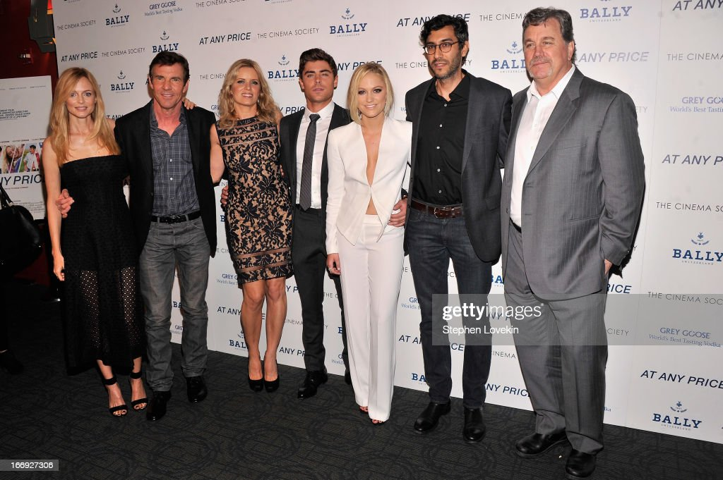 Heather Graham Dennis Quaid Kim Dickens Zac Efron Maika Monroe Ramin Bahrani and Tom Bernard attend the Cinema Society Bally screening of Sony...