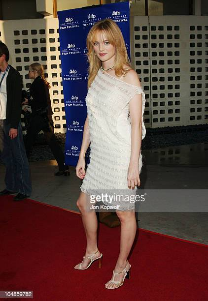 Heather Graham during 2003 IFP Los Angeles Film Festival Premiere of 'The Cooler' at ArcLight Cinerama Dome in Hollywood California United States