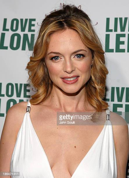 Heather Graham during Michelle Jonas Travelwear Spring 2007 Collection Launch at Hollywood Roosevelt Hotel in Hollywood California United States