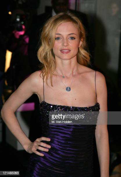 Heather Graham during Versace Boutique ReOpening Party at The Versace Store at 5th Ave in New York City New York United States