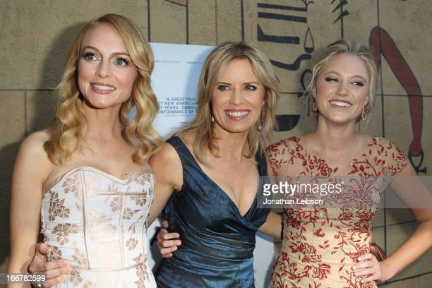 Heather Graham Kim Dickens and Maika Monroe attend the 'At Any Price' Los Angeles premiere at the Egyptian Theatre on April 16 2013 in Hollywood...