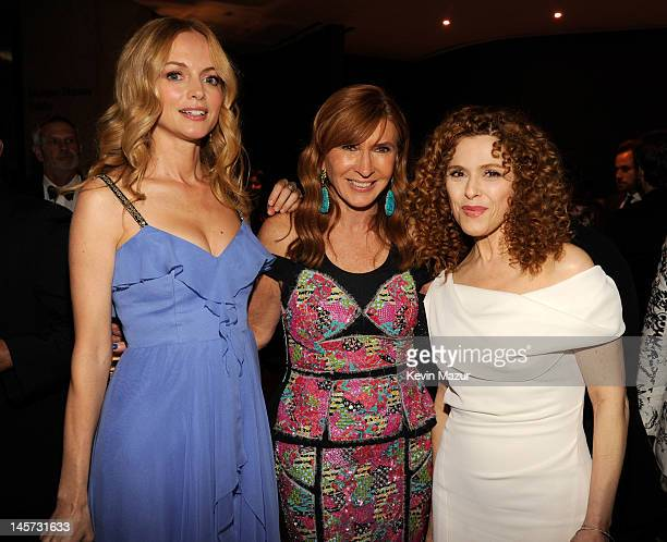Heather Graham Nicole Miller and Benadette Peters attend 2012 CFDA Fashion Awards at Alice Tully Hall on June 4 2012 in New York City