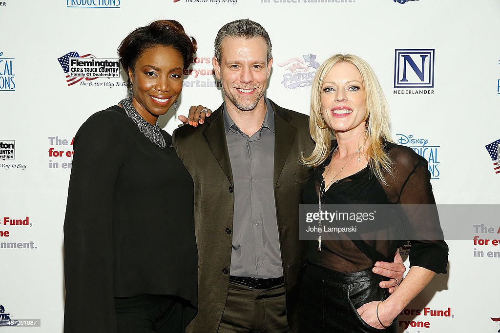 <a gi-track='captionPersonalityLinkClicked' href=/galleries/search?phrase=Heather+Headley&family=editorial&specificpeople=224680 ng-click='$event.stopPropagation()'>Heather Headley</a>, <a gi-track='captionPersonalityLinkClicked' href=/galleries/search?phrase=Adam+Pascal&family=editorial&specificpeople=618568 ng-click='$event.stopPropagation()'>Adam Pascal</a> and <a gi-track='captionPersonalityLinkClicked' href=/galleries/search?phrase=Sherie+Rene+Scott&family=editorial&specificpeople=214727 ng-click='$event.stopPropagation()'>Sherie Rene Scott</a> attends after party for The Actors Fund Gala Celebrating 20 Years Of Disney On Broadway at The New York Marriott Marquis on April 28, 2014 in New York City.