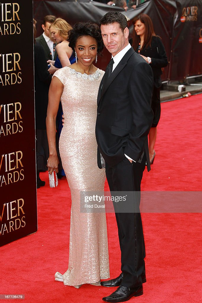 <a gi-track='captionPersonalityLinkClicked' href=/galleries/search?phrase=Heather+Headley&family=editorial&specificpeople=224680 ng-click='$event.stopPropagation()'>Heather Headley</a> and Lloyd Owen attend The Laurence Olivier Awards at The Royal Opera House on April 28, 2013 in London, England.