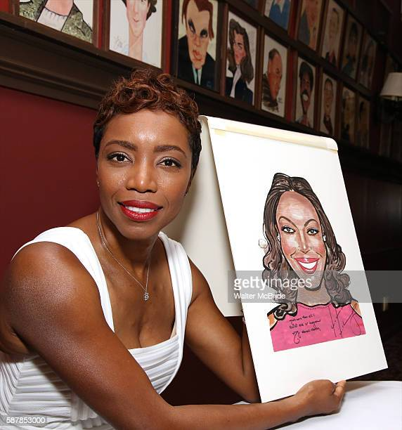 Heather Headley attends the unveiling of her Portrait on the Sardi's Wall of Fame at Sardi's Restaurant on August 9 2016 in New York City