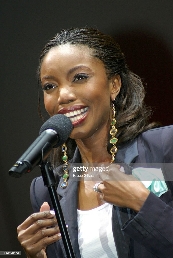 <a gi-track='captionPersonalityLinkClicked' href=/galleries/search?phrase=Heather+Headley&family=editorial&specificpeople=224680 ng-click='$event.stopPropagation()'>Heather Headley</a> during <a gi-track='captionPersonalityLinkClicked' href=/galleries/search?phrase=Heather+Headley&family=editorial&specificpeople=224680 ng-click='$event.stopPropagation()'>Heather Headley</a> And Clay Aiken Perform In 'Home' at The New Amsterdam Theater in New York, NY, United States.