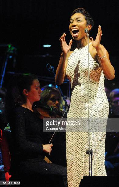 Heather Headley performs at Amway Center on February 11 2017 in Orlando Florida