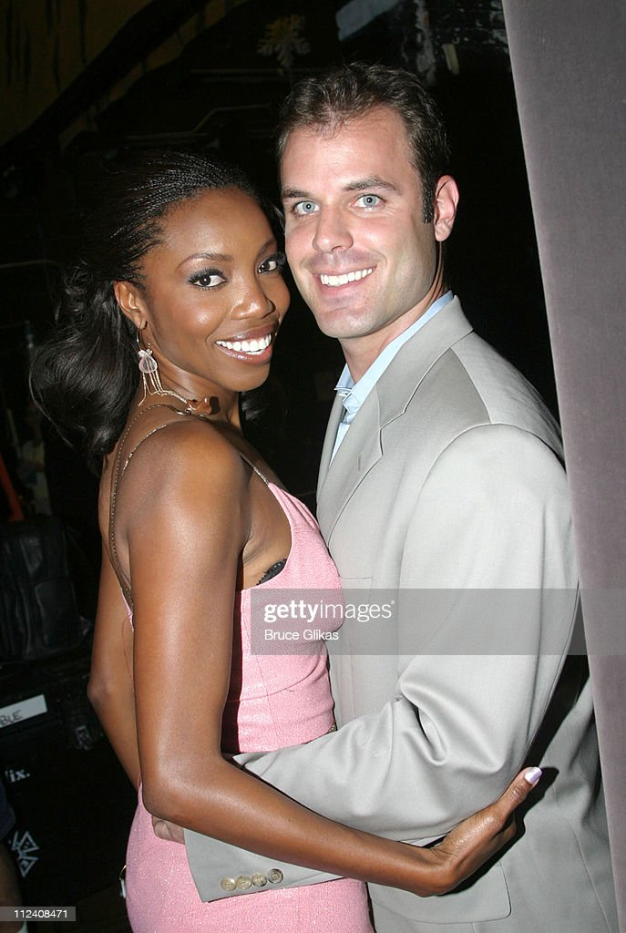 Heather Headley with husband Brian Musso during Heather Headley And Clay Aiken Perform In 'Home' at The New Amsterdam Theater in New York, NY, United States.