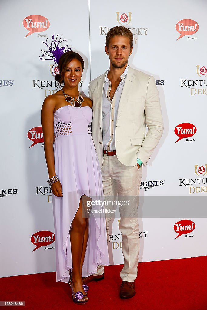 Heather Hemmens and Matt Barr attends 139th Kentucky Derby at Churchill Downs on May 4, 2013 in Louisville, Kentucky.