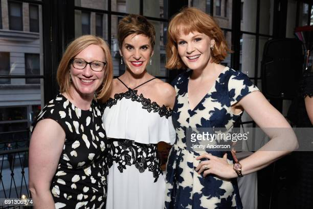 Heather Hitchens Jenn Colella and Kate Baldwin attend Designed To Celebrate A Toast To The 2017 Tony Awards Creative Arts Nominees at The Lamb's Club...