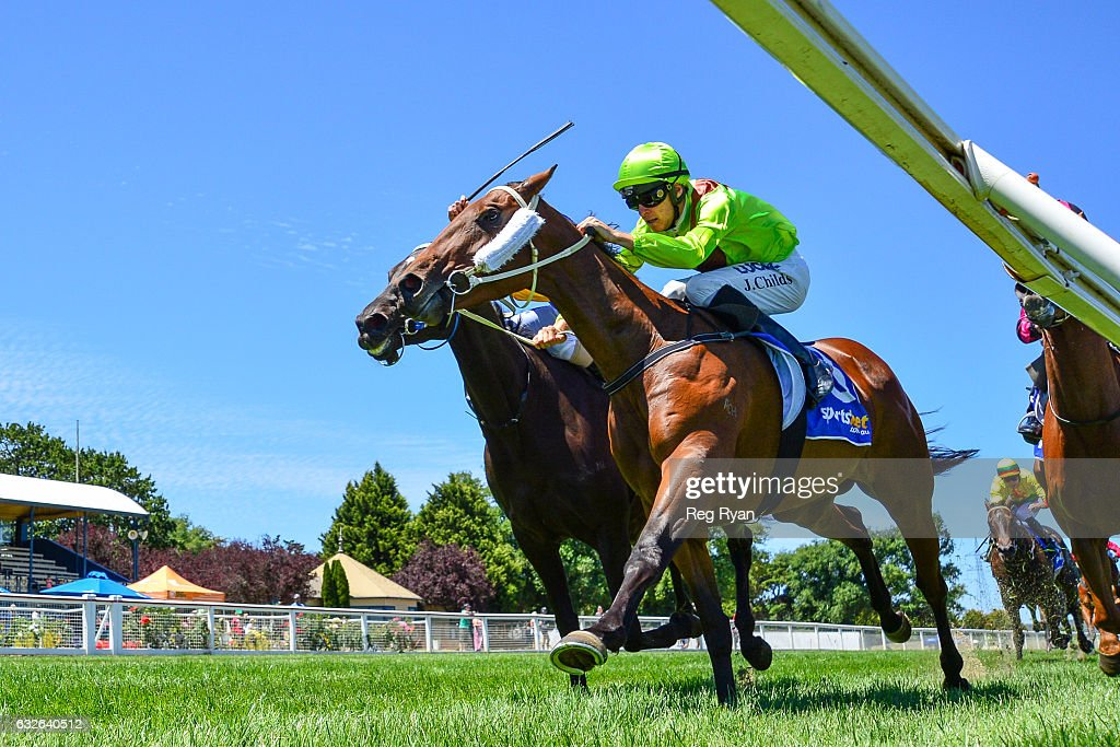 Heather Honey ridden by Jordan Childs wins C.E. Bartlett Maiden Plate at Sportsbet-Ballarat Racecourse on January 25, 2017 in Ballarat, Australia.