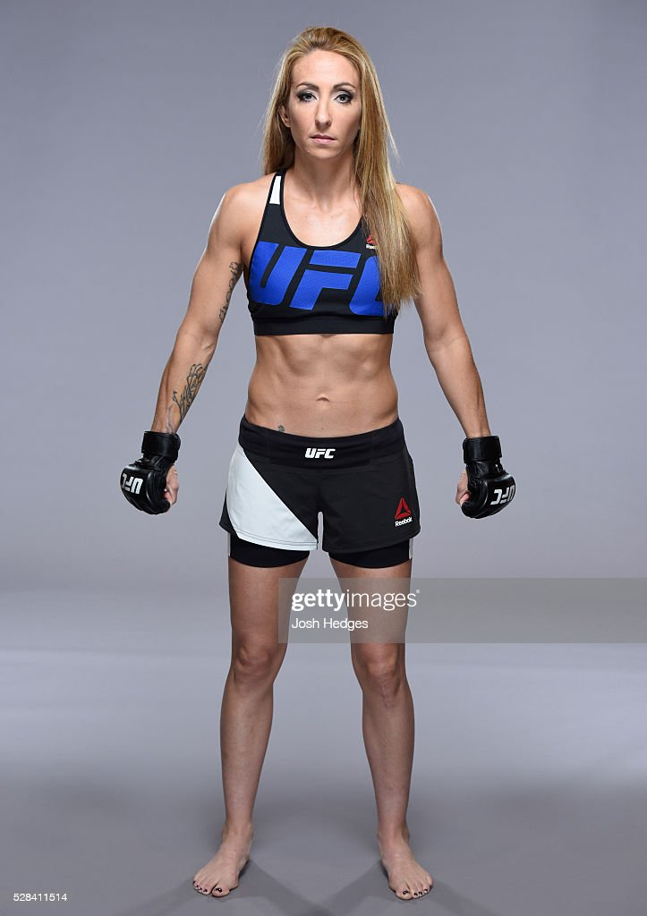 Heather Jo Clark poses for a portrait during a UFC photo session at the Mainport Hotel on May 5, 2016 in Rotterdam, Netherlands.