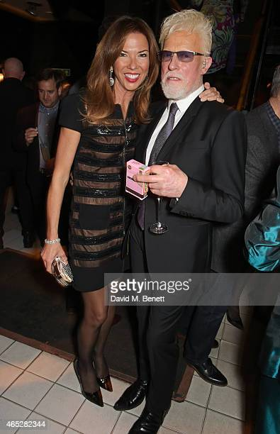 Heather Kerzner and Anthony Price attend Anthony Price's 70th birthday party hosted by Nick Rhodes at Blakes Hotel on March 5 2015 in London England