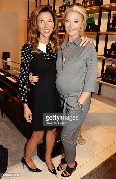 Heather Kerzner and Tamara Beckwith attend the Coach Fall 2014 Collection Launch at their New Bond Street store on September 18 2014 in London England