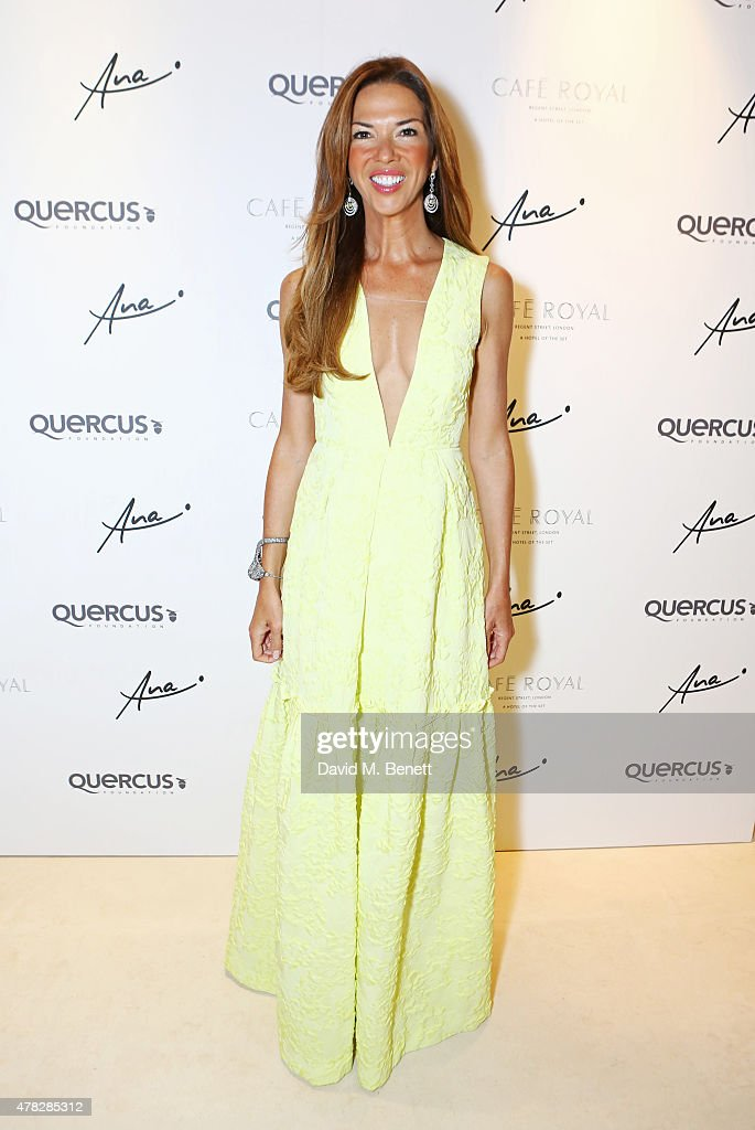 Heather Kerzner arrives at the Quercus Foundation Pre-Wimbledon Cocktails with Ana Ivanovic in the Ten Room at Hotel Cafe Royal on June 24, 2015 in London, England.