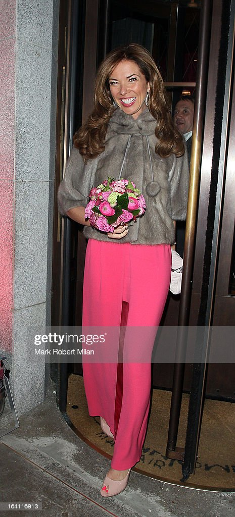 Heather Kerzner at the Downtown Mayfair restaurant for her birthday celebration on March 19, 2013 in London, England.