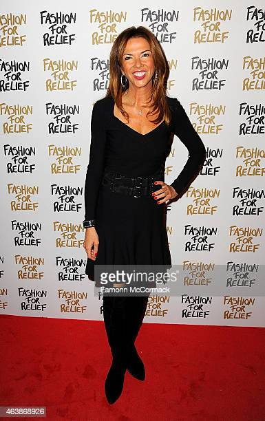 Heather Kerzner attends the Fashion For Relief charity fashion show to kick off London Fashion Week Fall/Winter 2015/16 at Somerset House on February...